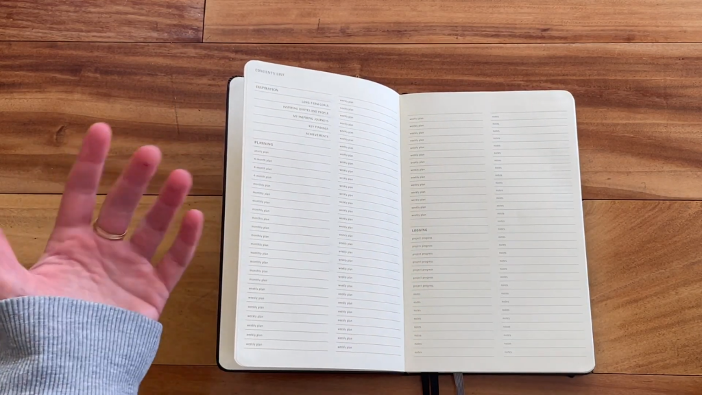 Moleskine Pro Project Planner Review and Flip Through 2 22 screenshot