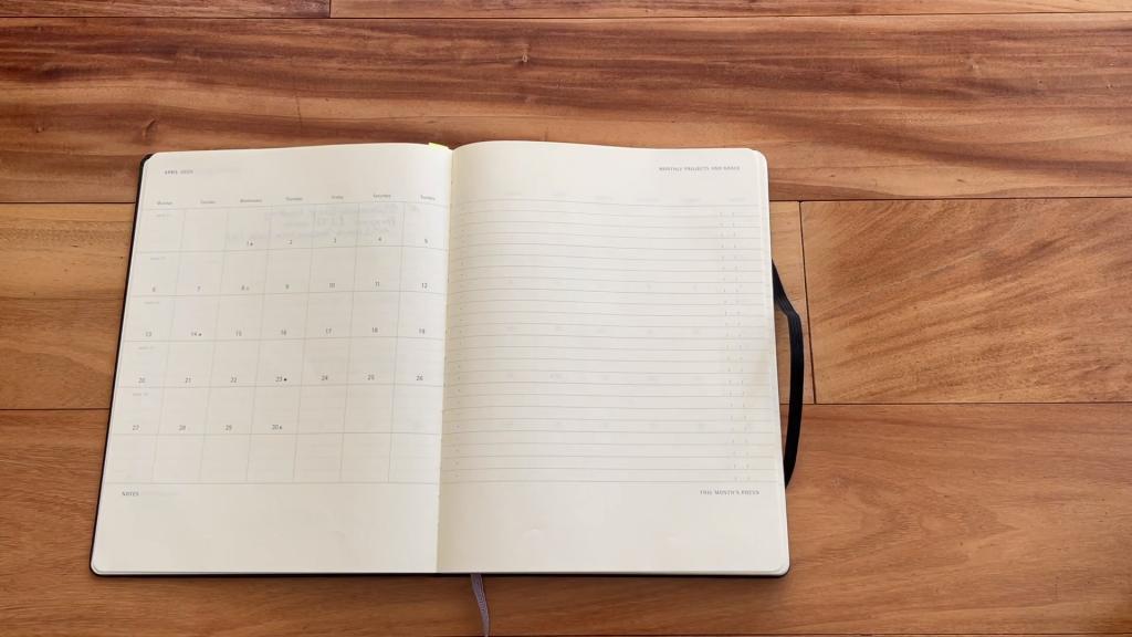 Moleskine Comparison Pro Planner v Project Planner 2 2 screenshot