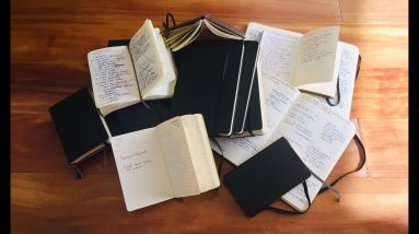 Almost 20 YEARS of Moleskine Notebooks!!